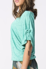 Skunkfunk Cinched Sleeve Top - Back cropped