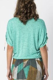 Skunkfunk Cinched Sleeve Top - Front full body