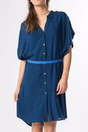 Skunkfunk Navy Shirt Dress - Product Mini Image