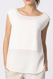 Skunkfunk White Sheer Top - Side cropped