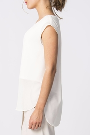 Skunkfunk White Sheer Top - Back cropped