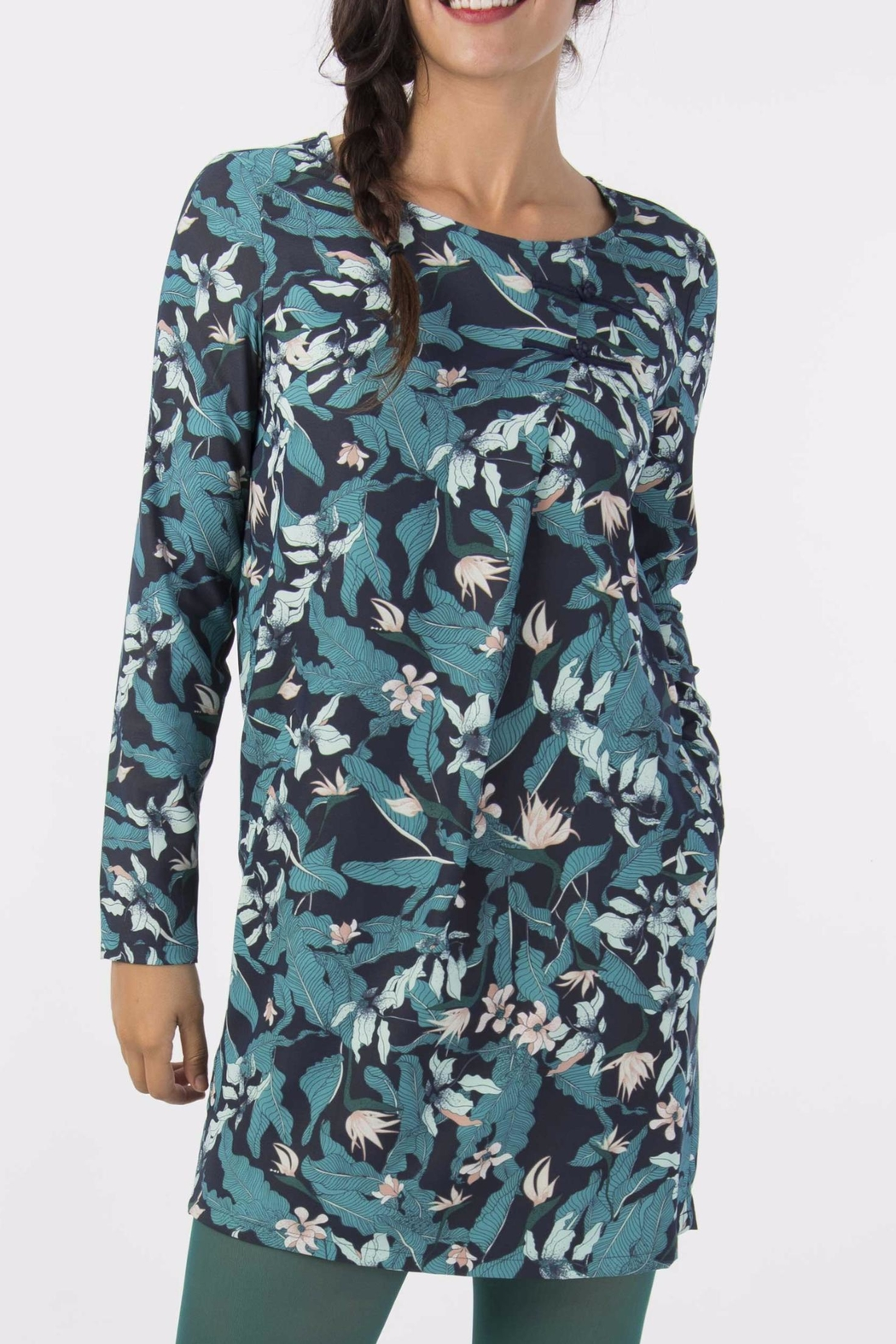 Skunkfunk Tropical Print Tunic - Front Cropped Image