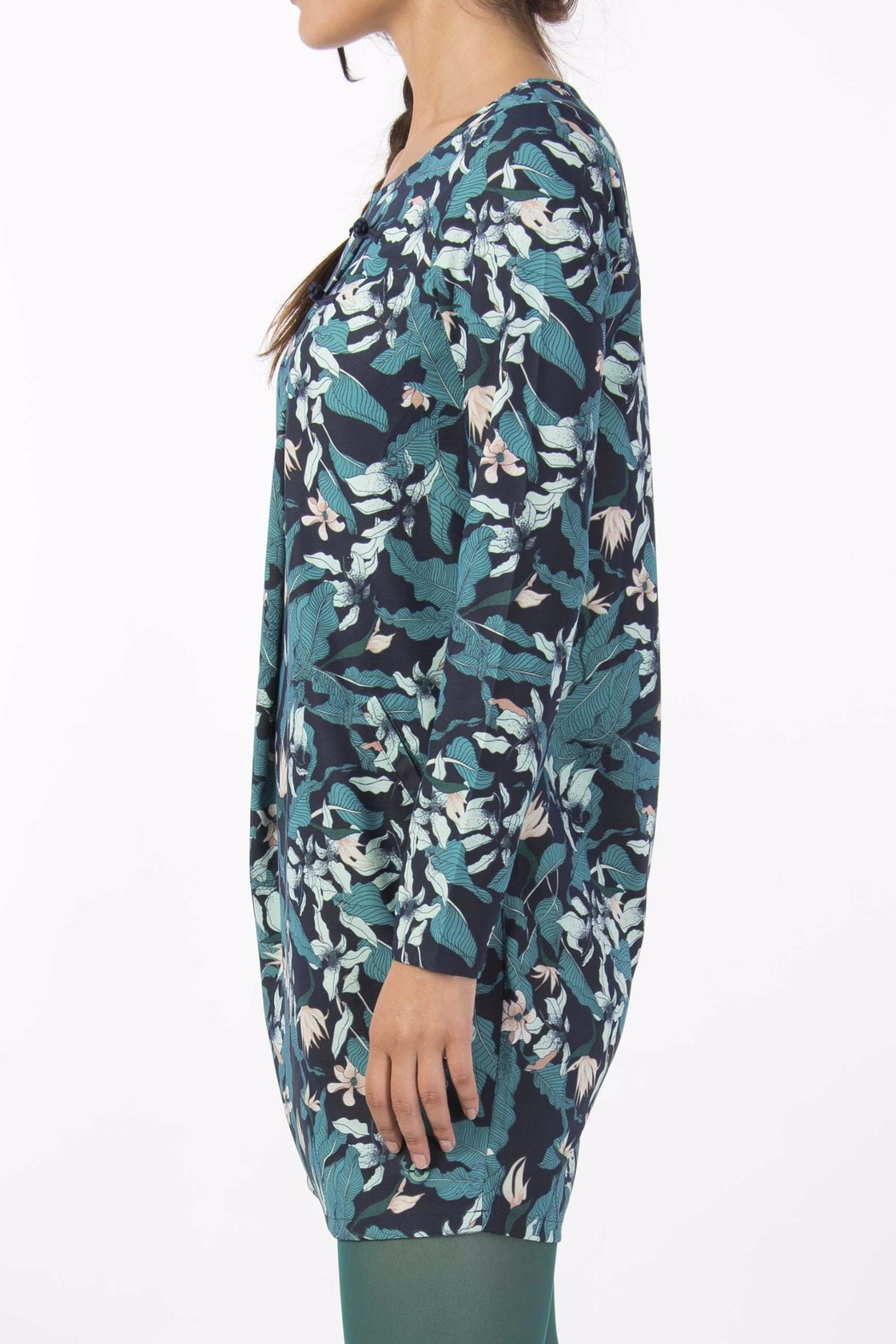 Skunkfunk Tropical Print Tunic - Side Cropped Image