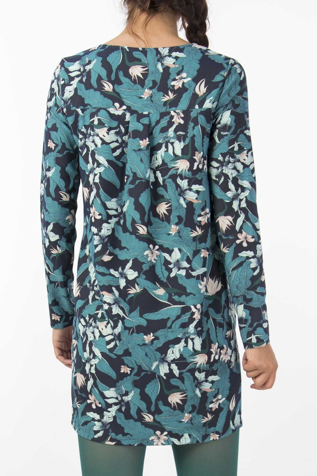 Skunkfunk Tropical Print Tunic - Back Cropped Image