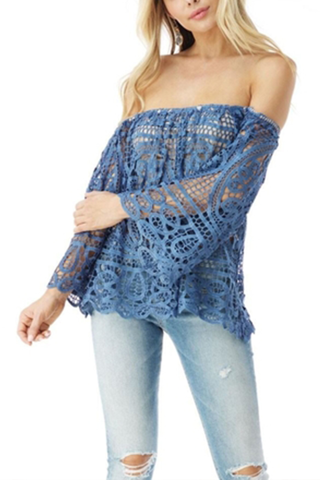 Sky Afilda Lace Top - Front Cropped Image