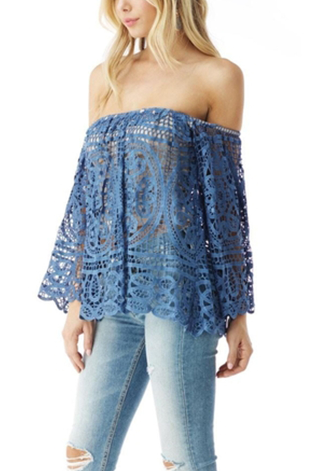 Sky Afilda Lace Top - Front Full Image