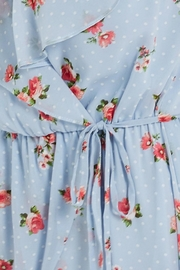 Soprano Sky-Blue Floral Wrap - Other