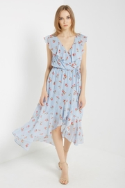 Soprano Sky-Blue Floral Wrap - Front cropped
