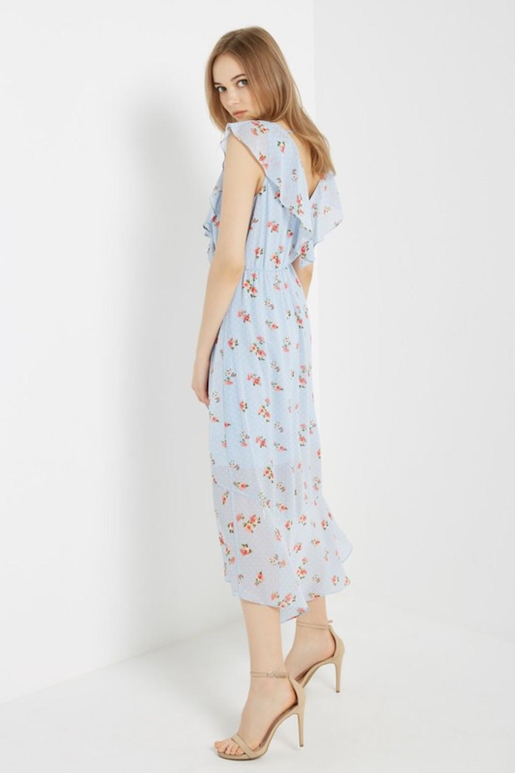 Soprano Sky-Blue Floral Wrap - Side Cropped Image