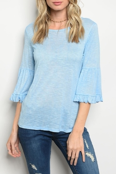 Sweet Claire Sky Blue Top - Product List Image