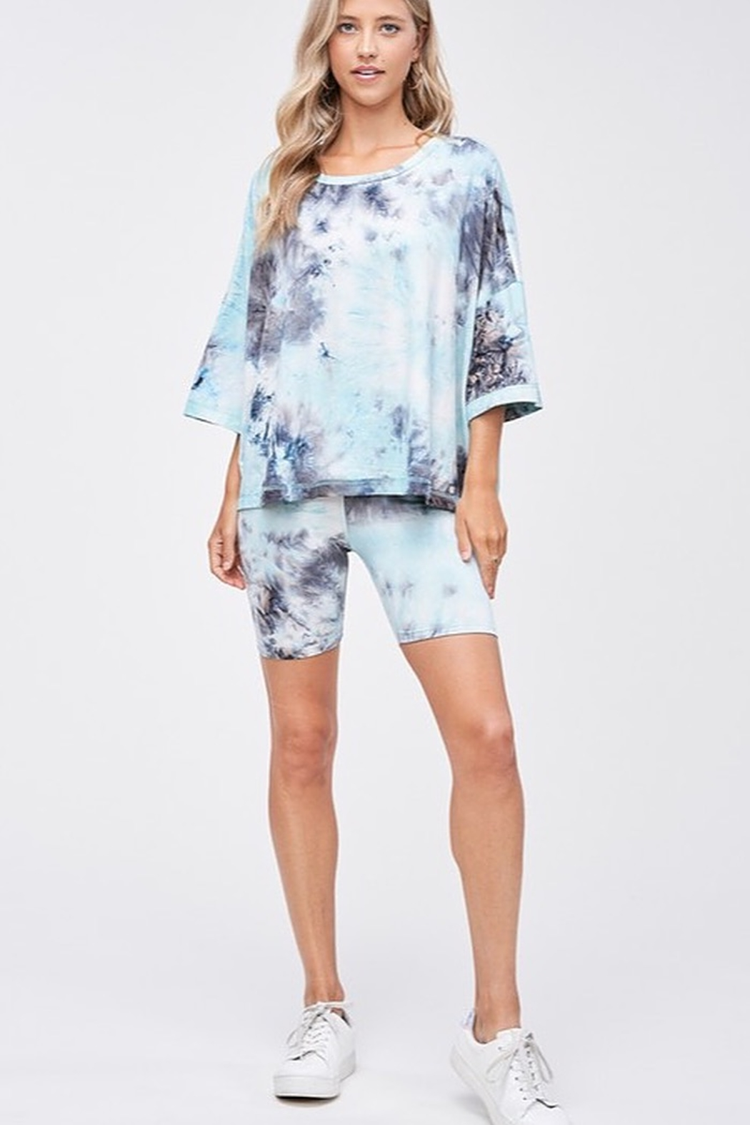 CRIV Sky High Tie Dye Top - Back Cropped Image