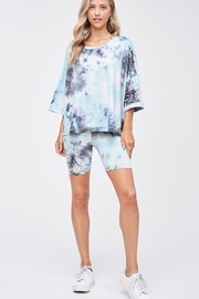 CRIV Sky High Tie Dye Top - Back cropped