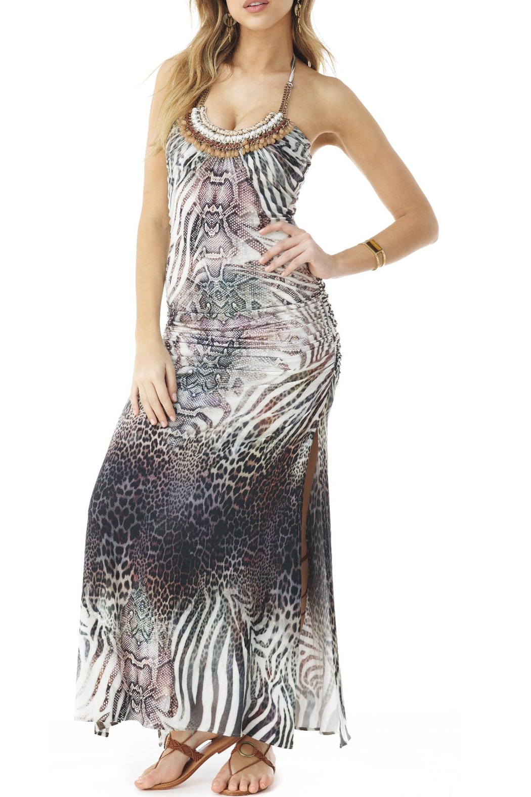 Sky Jeweled Maxi Dress - Front Cropped Image