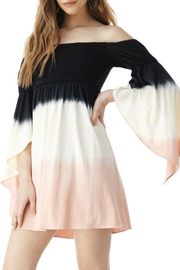 Sky Ombre Off-The-Shoulder Dress - Front cropped