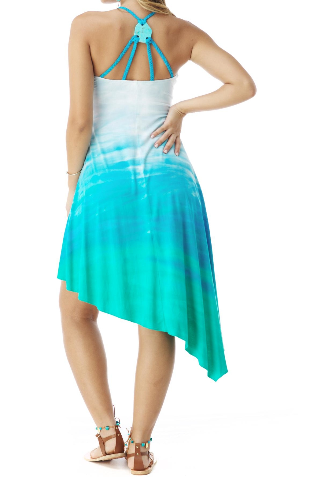 Sky Tie Dye Dress - Front Full Image