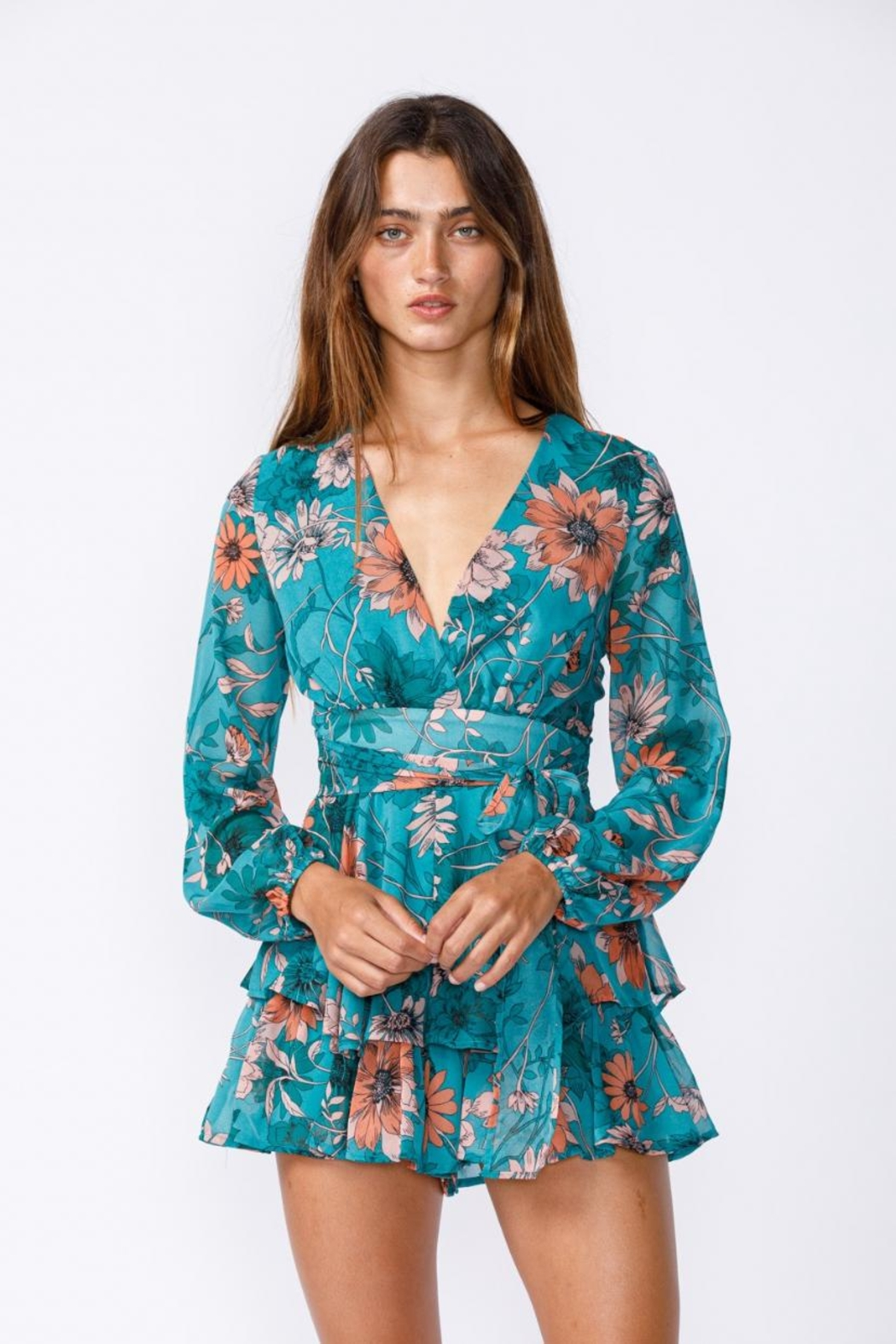 sky to moon Floral Romper - Main Image