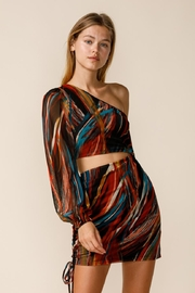 sky to moon One-Shoulder Cut-Out Dress - Front full body