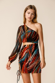 sky to moon One-Shoulder Cut-Out Dress - Product Mini Image