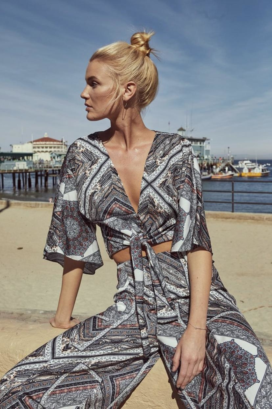 The JetSet Diaries Skye Print Top - Main Image