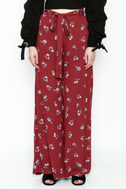 skylar madison Wide Floral Pants - Front full body