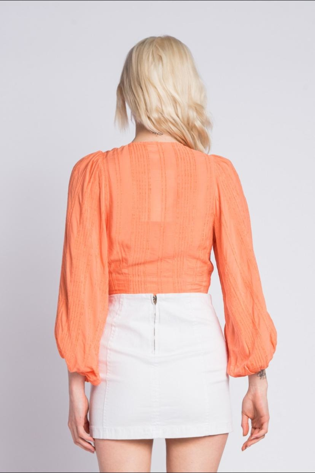 Skylar & Madison Button Down Top - Back Cropped Image