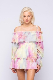 Skylar & Madison Creamsicle Ruffle Romper - Front cropped