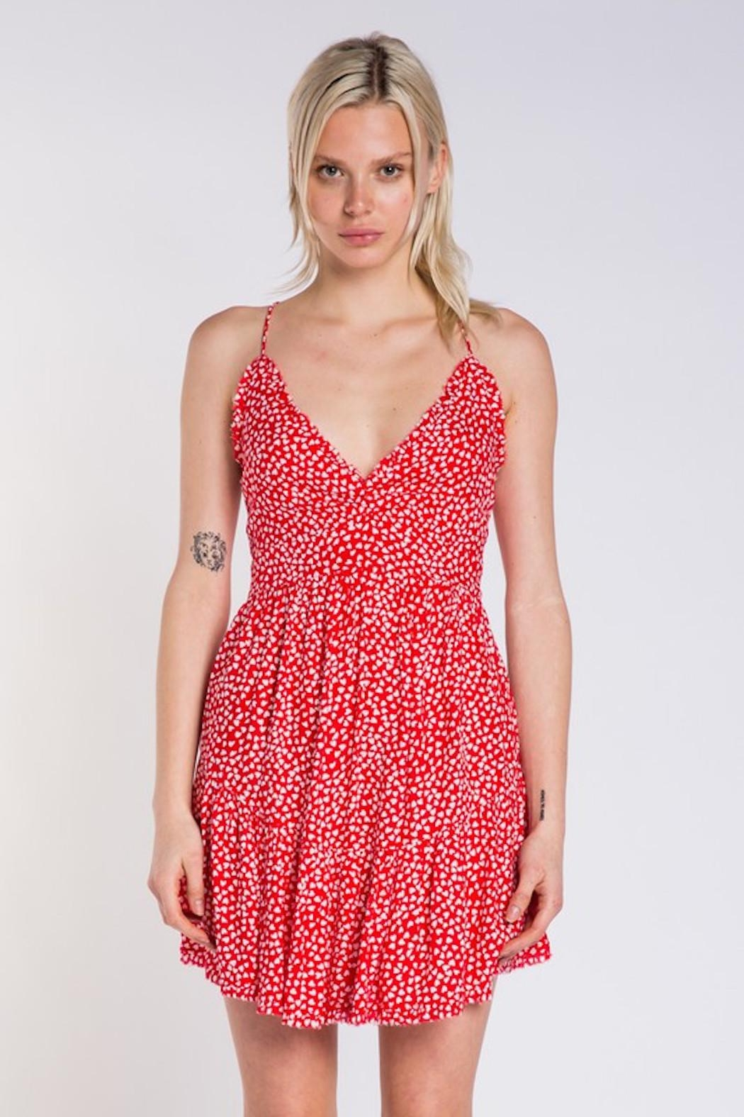 Skylar & Madison Heart Print Dress - Front Cropped Image