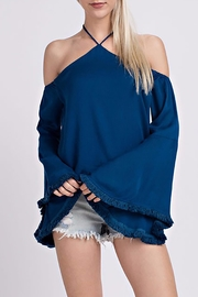 skylar madison Blue Blouse Top - Product Mini Image