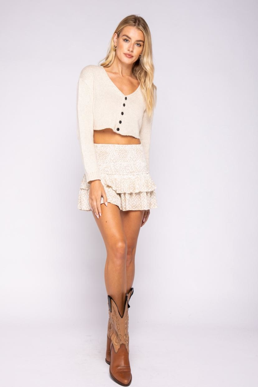 skylar madison Crop Sweater Top - Main Image