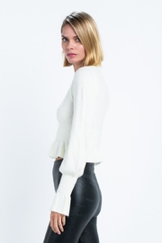 skylar madison Cropped Sweater Top - Side cropped