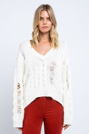 skylar madison Distressed V-Neck Sweater - Product Mini Image