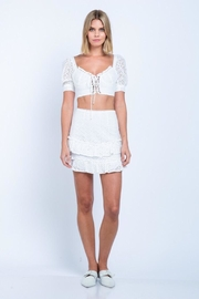 skylar madison Eyelet Mini-Skirt Set - Product Mini Image