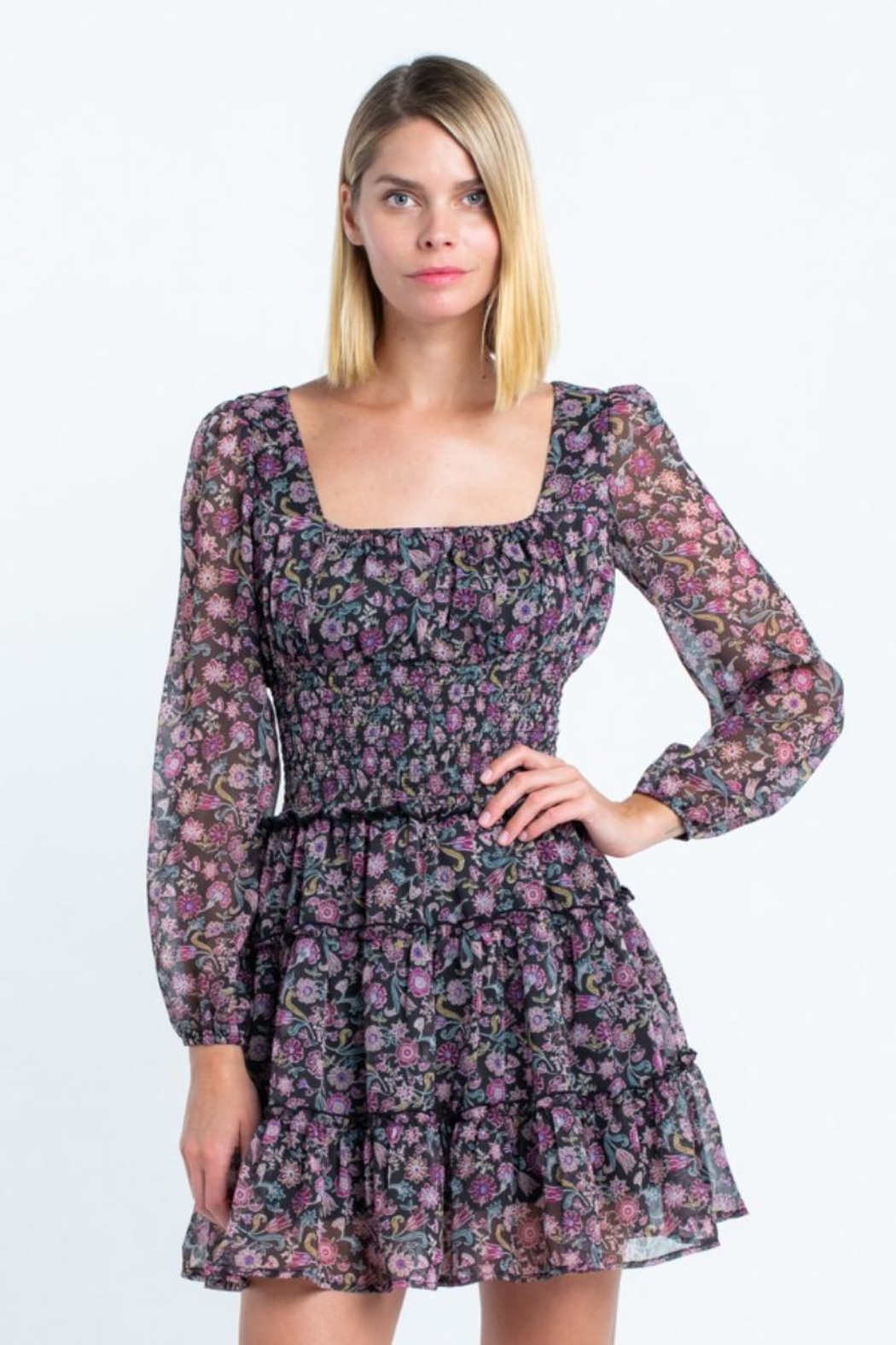 skylar madison Floral Mini Dress - Main Image
