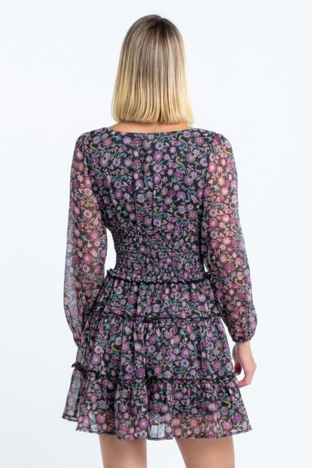 skylar madison Floral Mini Dress - Back Cropped Image