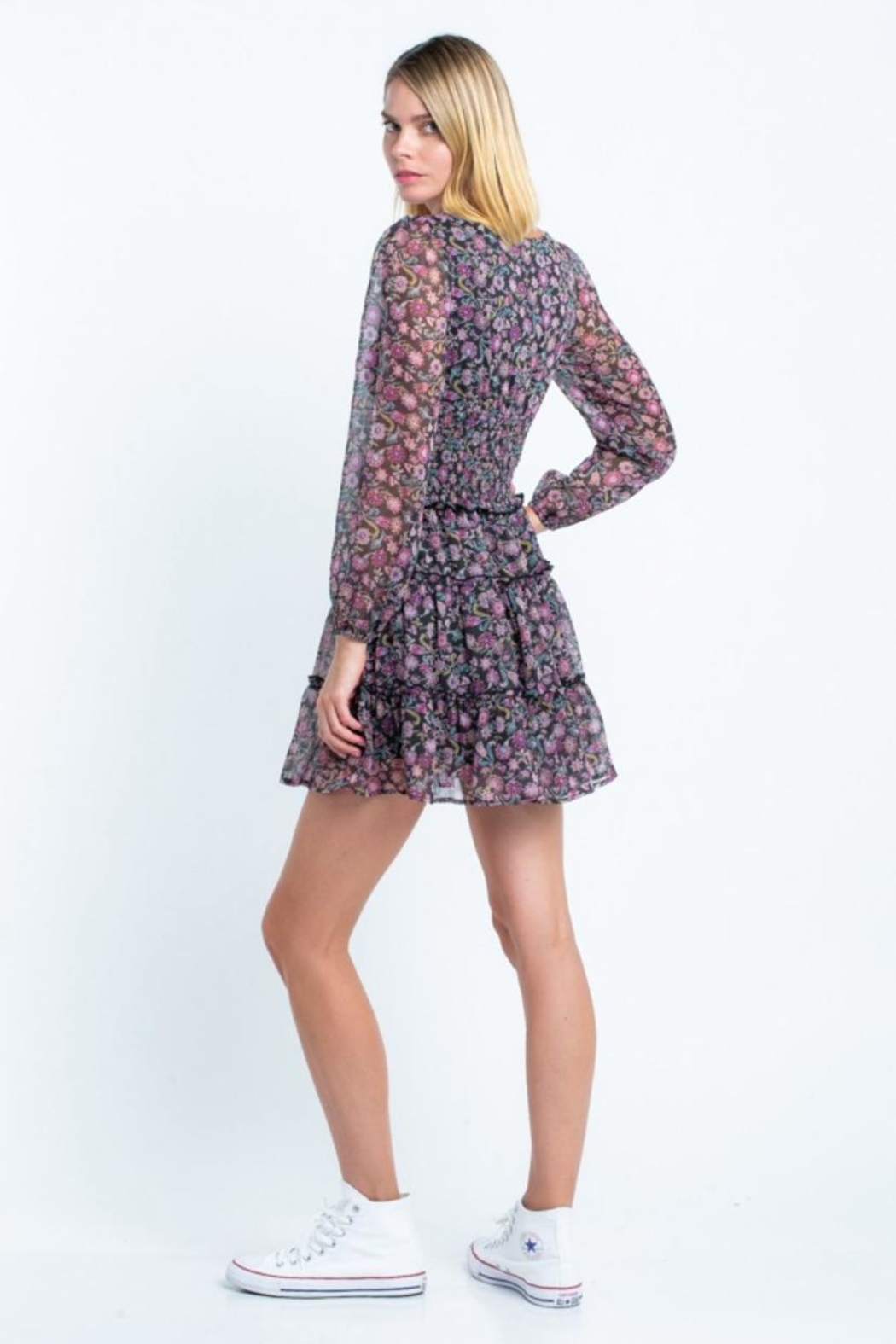skylar madison Floral Mini Dress - Side Cropped Image