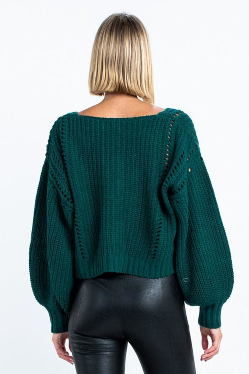 skylar madison Long Sleeve Sweater - Front Full Image