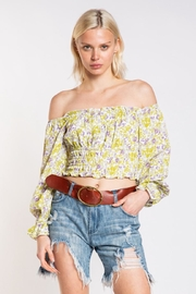 skylar madison Off-Shoulder Floral Top - Product Mini Image