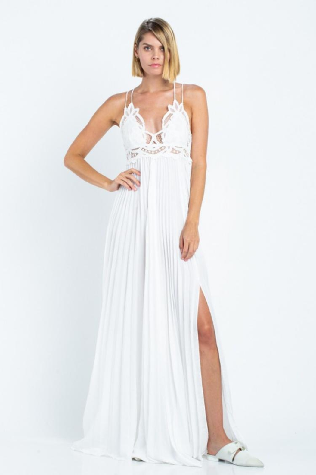 skylar madison Pleated Maxi Dress - Main Image