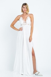 skylar madison Pleated Maxi Dress - Front cropped