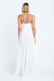 skylar madison Pleated Maxi Dress - Back cropped