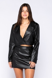 skylar madison Pu Bolero Jacket - Front cropped