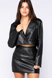 skylar madison Pu Bolero Jacket - Front full body