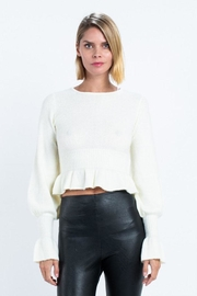 skylar madison Ruffle Sweater Top - Product Mini Image