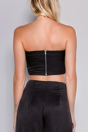 skylar madison Satin Front-Tie Top - Side cropped