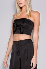 skylar madison Satin Front-Tie Top - Product Mini Image