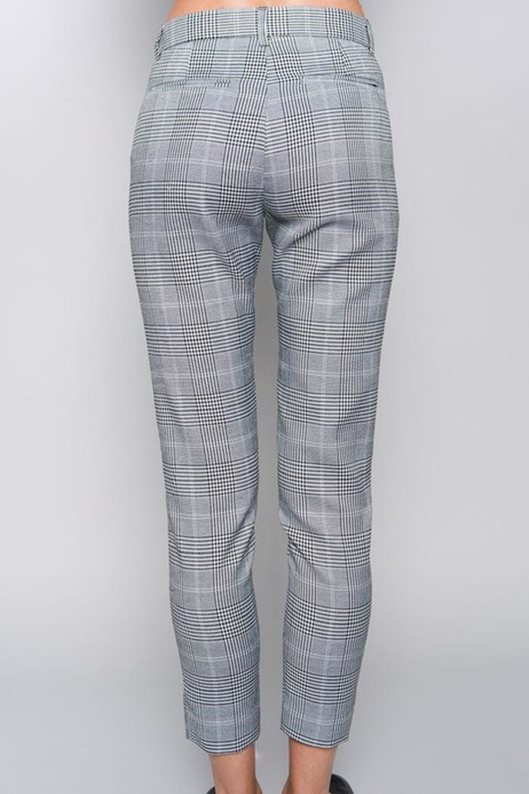 skylar madison Slim Checked Trousers - Side Cropped Image