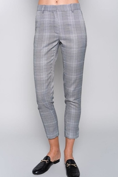 Shoptiques Product: Slim Checked Trousers