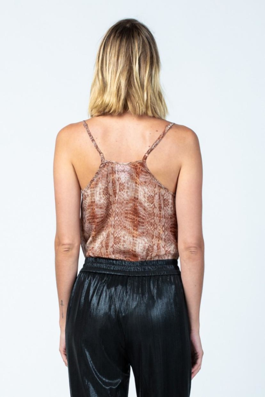skylar madison Snake Print Bodysuit - Back Cropped Image