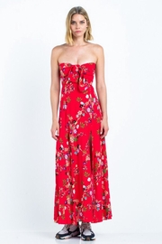 skylar madison Strapless Floral Maxi - Product Mini Image