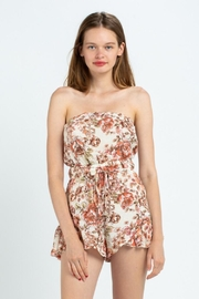 skylar madison Strapless Floral Romper - Product Mini Image
